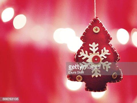 Tree Shaped Christmas Ornament And Lights Stock Photo Getty Images - Christmas Tree Shaped Lights