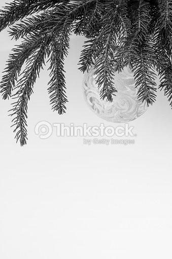 Christmas Header Transparent.Christmas Tree With Transparent Decoration Monochrome Header