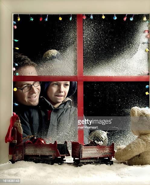 Weihnachten-Fenster