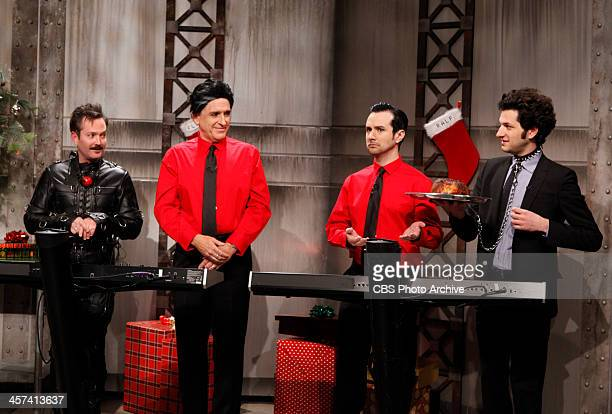 Christmas With Kraftwerk The Late Late Show with Craig Ferguson celebrates Christmas with Kraftwerk in December 2013 Thomas Lennon from left Craig...