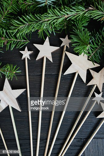 Christmas wooden stars : Foto de stock