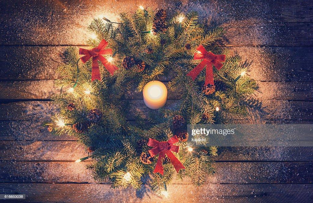 Christmas Wreath : Stock Photo