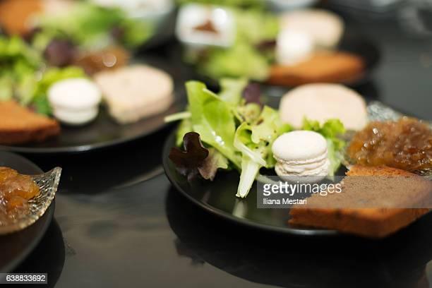 Christmas'eve starter with foie gras