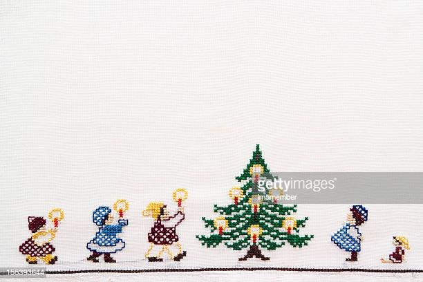 Christmastime, handmade napking with copy space