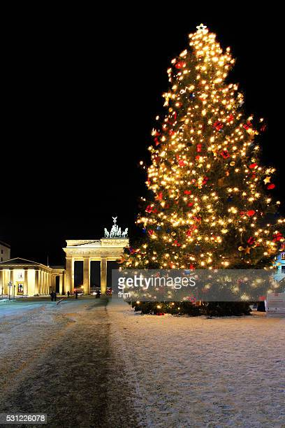 Christmas-tree near Brandenburger Tor (Brandenburg Gate) on the Pariser Platz