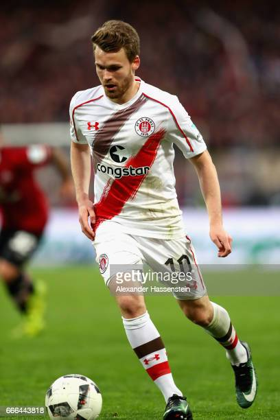 Christof Buchtmann of St Pauli runs with the ball during the Second Bundesliga match between 1 FC Nuernberg and FC St Pauli at Arena Nuernberg on...