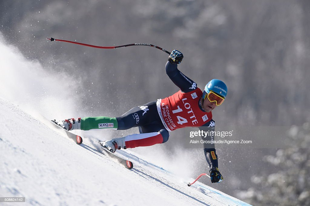<a gi-track='captionPersonalityLinkClicked' href=/galleries/search?phrase=Christof+Innerhofer&family=editorial&specificpeople=4104734 ng-click='$event.stopPropagation()'>Christof Innerhofer</a> competes during the Audi FIS Alpine Ski World Cup Men's Super G on January 07, 2016 in Jeongseon, South Korea.