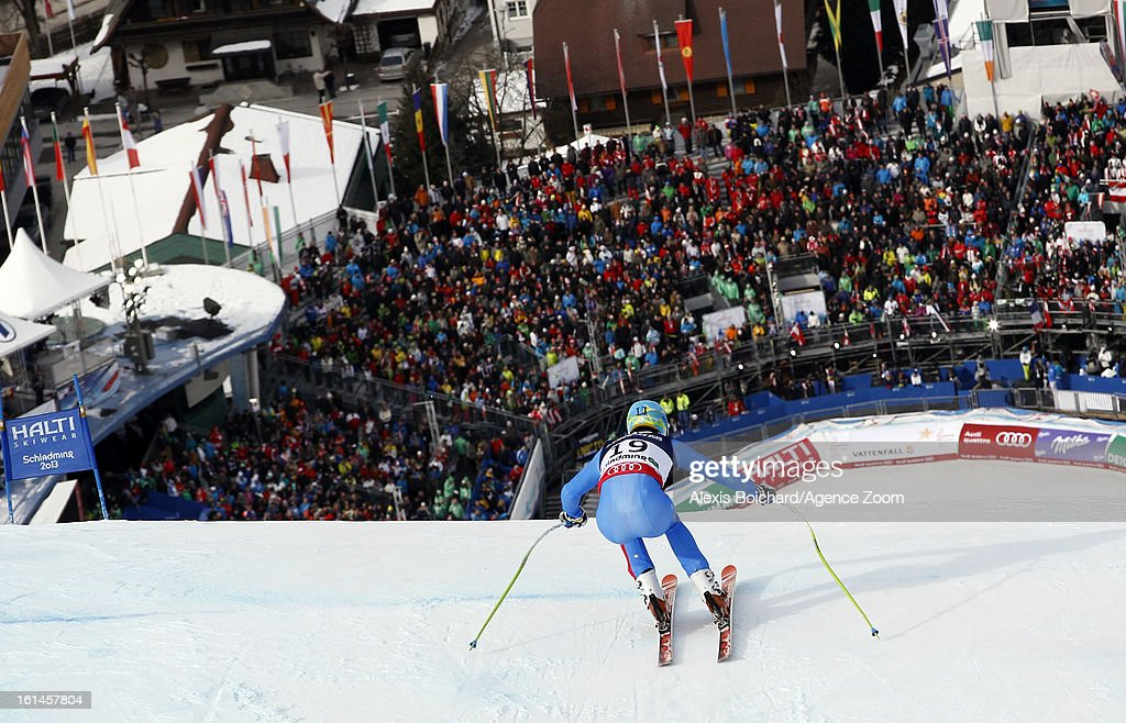 <a gi-track='captionPersonalityLinkClicked' href=/galleries/search?phrase=Christof+Innerhofer&family=editorial&specificpeople=4104734 ng-click='$event.stopPropagation()'>Christof Innerhofer</a> of Italy competes during the Audi FIS Alpine Ski World Championships Men's Super Combined on February 11, 2013 in Schladming, Austria.