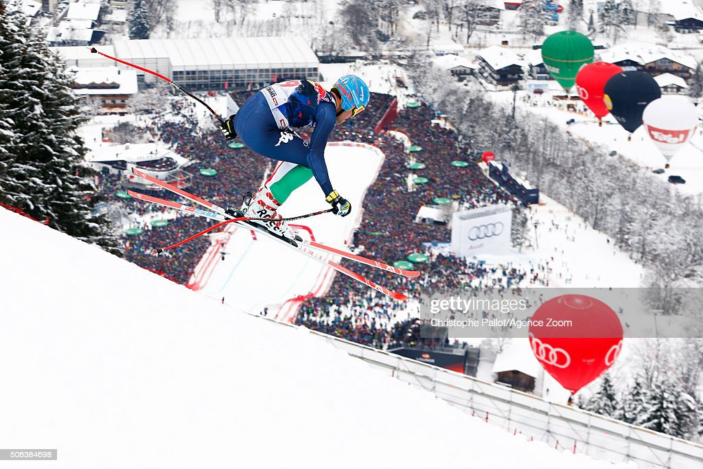 <a gi-track='captionPersonalityLinkClicked' href=/galleries/search?phrase=Christof+Innerhofer&family=editorial&specificpeople=4104734 ng-click='$event.stopPropagation()'>Christof Innerhofer</a> of Italy competes during the Audi FIS Alpine Ski World Cup Men's Downhill on January 23, 2016 in Kitzbuehel, Austria.
