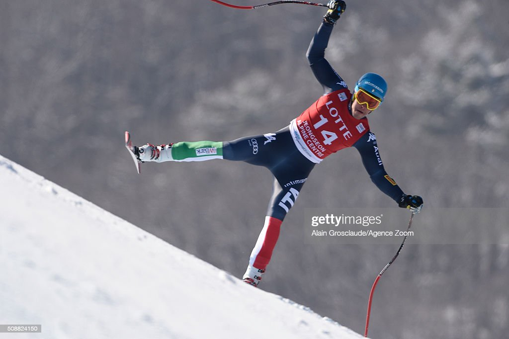 <a gi-track='captionPersonalityLinkClicked' href=/galleries/search?phrase=Christof+Innerhofer&family=editorial&specificpeople=4104734 ng-click='$event.stopPropagation()'>Christof Innerhofer</a> of Italy competes during the Audi FIS Alpine Ski World Cup Men's Super G on January 07, 2016 in Jeongseon, South Korea.
