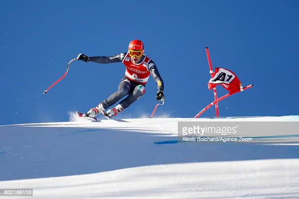 Christof Innerhofer of Italy competes during the Audi FIS Alpine Ski World Cup Men's SuperG on January 20 2017 in Kitzbuehel Austria