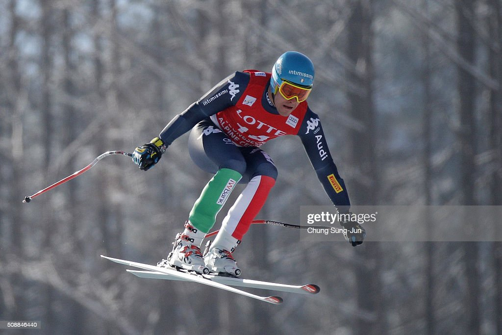 <a gi-track='captionPersonalityLinkClicked' href=/galleries/search?phrase=Christof+Innerhofer&family=editorial&specificpeople=4104734 ng-click='$event.stopPropagation()'>Christof Innerhofer</a> of Italy competes in the Men's Super G Finals during the 2016 Audi FIS Ski World Cup at the Jeongseon Alpine Centre on February 7, 2016 in Jeongseon-gun, South Korea.