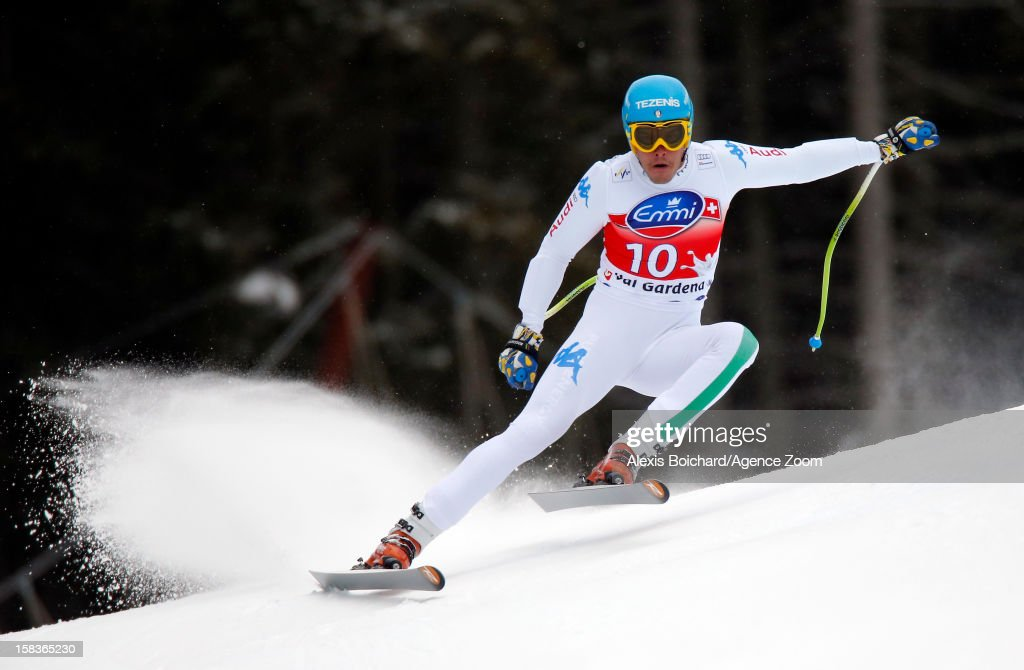 <a gi-track='captionPersonalityLinkClicked' href=/galleries/search?phrase=Christof+Innerhofer&family=editorial&specificpeople=4104734 ng-click='$event.stopPropagation()'>Christof Innerhofer</a> of Italy during the Audi FIS Alpine Ski World Cup Men's SuperG on December 14, 2012 in Val Gardena, Italy.