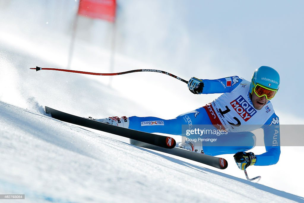 <a gi-track='captionPersonalityLinkClicked' href=/galleries/search?phrase=Christof+Innerhofer&family=editorial&specificpeople=4104734 ng-click='$event.stopPropagation()'>Christof Innerhofer</a> of Italy races during the Men's Super-G on the Birds of Prey racecourse on Day 4 of the 2015 FIS Alpine World Ski Championships on February 5, 2015 in Beaver Creek, Colorado.