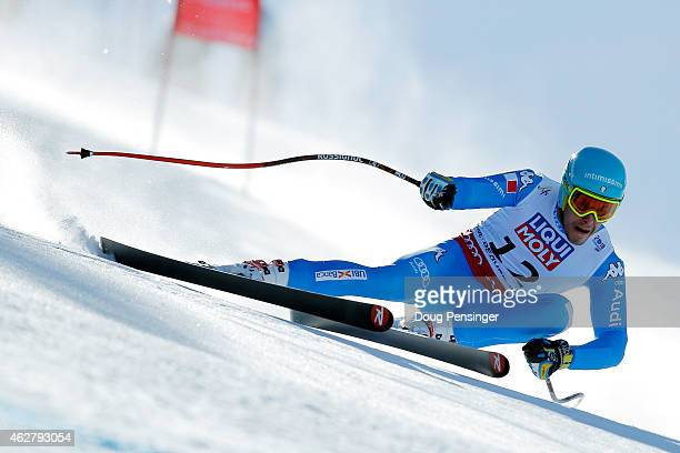 Christof Innerhofer of Italy races during the Men's SuperG on the Birds of Prey racecourse on Day 4 of the 2015 FIS Alpine World Ski Championships on...