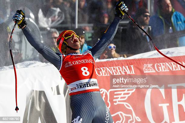 Christof Innerhofer of Italy takes 2nd place during the Audi FIS Alpine Ski World Cup Men's SuperG on January 20 2017 in Kitzbuehel Austria