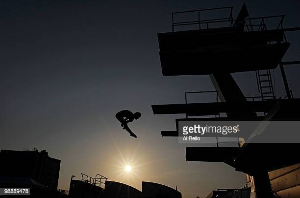 Christofer Eskilsson of Sweden dives during training at the Fort Lauderdale Aquatic Center during Day 1 of the ATT USA Diving Grand Prix on May 6...