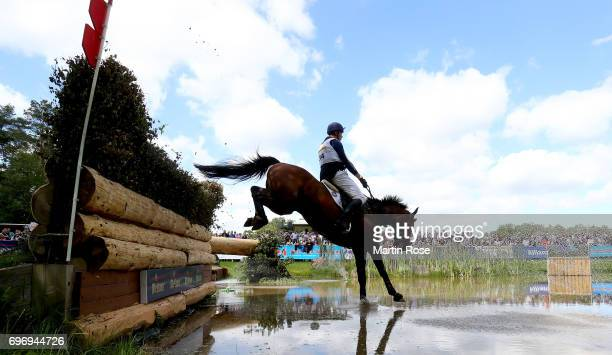 Christoffer Forsberg of Sweden rides Wanskjaers Carlsson during the CIC 4 star cross country at the Messmer Trophy on June 17 2017 in Luhmuhlen...
