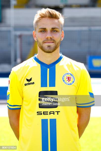 Christoffer Nyman of Eintracht Braunschweig poses during the official team presentation of Eintracht Braunschweig at Eintracht Stadion on July 3 2017...