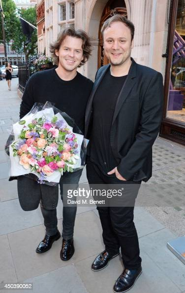 Christoper Kane and Nicholas Kirkwood attend the opening of Roksanda on Mount Street on June 10 2014 in London England