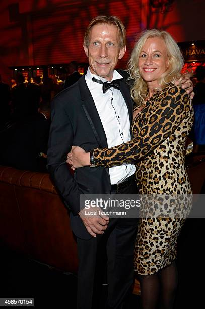 Christoph Daum and Angelica CammDaum attend the Deutscher Fernsehpreis 2014 after show party at Coloneum on October 2 2014 in Cologne Germany