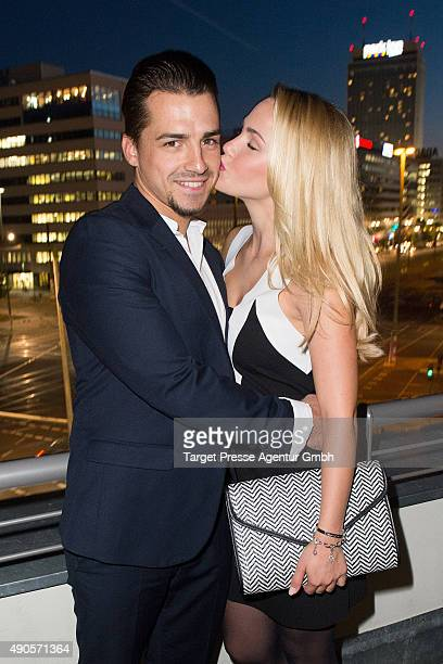 Christoph Ghesquier and Angelina Heger attend the charity event 'Ein Abend der Magie' by Tom Tailor at Soho House on September 29 2015 in Berlin...