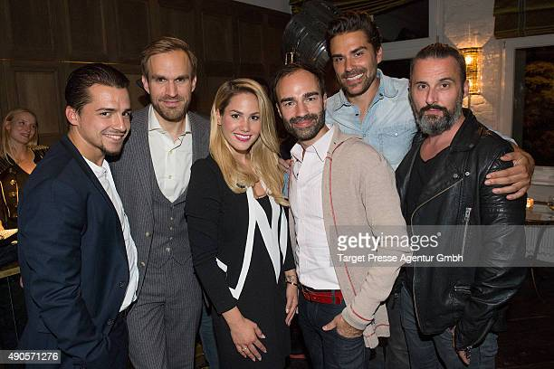 Christoph Ghesquier Thimon von Berlepsch Angelina Heger Ivan Strano Henner Ceynowa and Tobias Bojko attend the charity event 'Ein Abend der Magie' by...