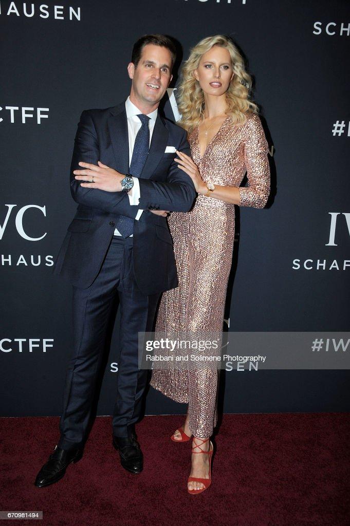 Christoph Grainger-Herr and Karolina Kurkova attend the 2017 IWC Schaffhausen 'For The Love Of Cinema' Gala Dinnert Spring Studios on April 20, 2017 in New York City.
