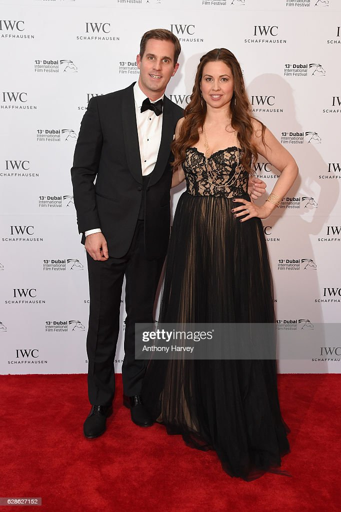 Christoph Grainger-Herr, Upcoming IWC CEO, and Raya Abirached, TV host of Scoop and IWC Brand Ambassador, attend the fifth IWC Filmmaker Award gala dinner at the 13th Dubai International Film Festival (DIFF), during which Swiss luxury watch manufacturer IWC Schaffhausen celebrated its long-standing passion for filmmaking at One And Only Royal Mirage on December 8, 2016 in Dubai, United Arab Emirates.