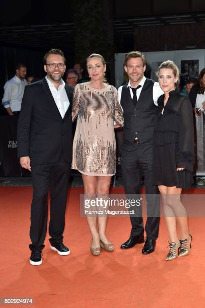Christoph Groener Diana Iljine Ken Duken and Marisa Leonie Bach attend the 'Berlin Fallen' Premiere during Munich Film Festival 2017 at Gasteig on...