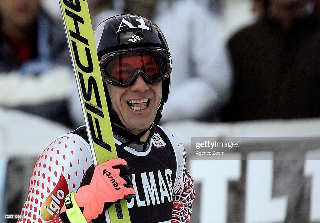 Christoph Gruber of Austria looks on after competing in the FIS Skiing World Cup Men's Super-G on December 15, 2006 in Val Gardena, Italy.