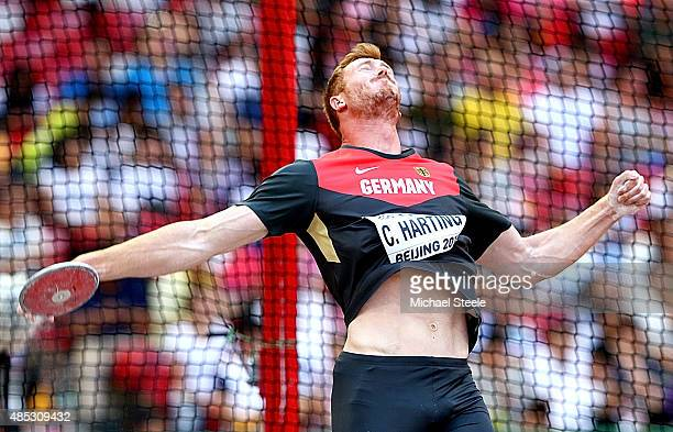 Christoph Harting of Germany competes in the Men's Discus qualification during day six of the 15th IAAF World Athletics Championships Beijing 2015 at...