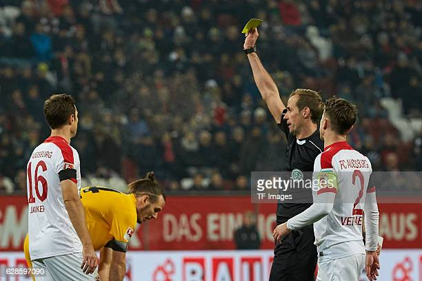 Christoph Jancker of Augsburg and Paul Verhaegh of Augsburg looks on during the Bundesliga match between FC Augsburg and Eintracht Frankfurt at WWK...