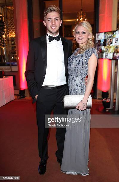 Christoph Kramer and his girlfriend Celina during the Audi Generation Award 2014 at Hotel Bayerischer Hof on December 3 2014 in Munich Germany