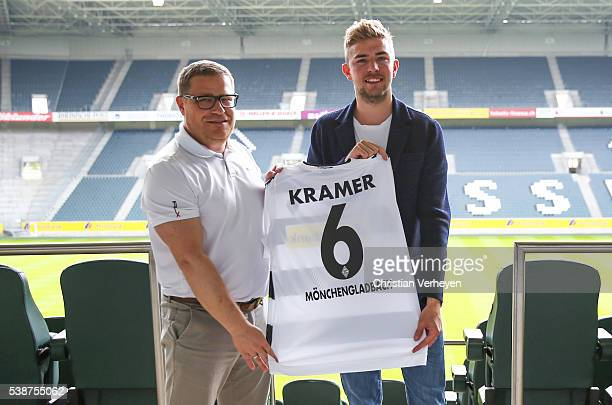 Christoph Kramer during his signing to Borussia Moenchengladbach on June 08 2016 in Moenchengladbach Germany