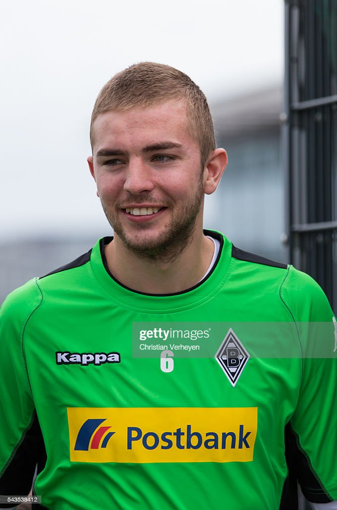 Christoph Kramer of Borussia Moenchengladbach ahead a training session at Borussia-Park on June 29, 2016 in Moenchengladbach, Germany.