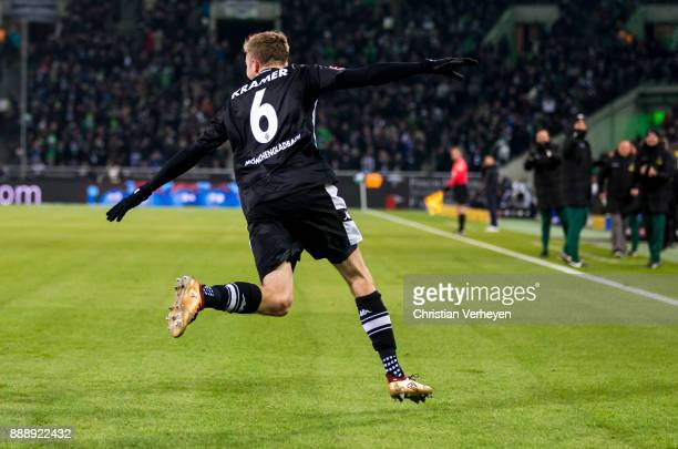 Christoph Kramer of Borussia Moenchengladbach celebrate his first goal during the Bundesliga match between Borussia Moenchengladbach and FC Schalke...