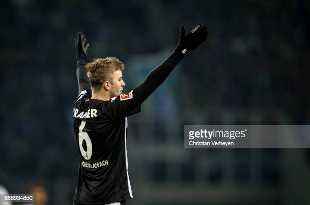 Christoph Kramer of Borussia Moenchengladbach gives advices during the Bundesliga match between Borussia Moenchengladbach and FC Schalke 04 at...