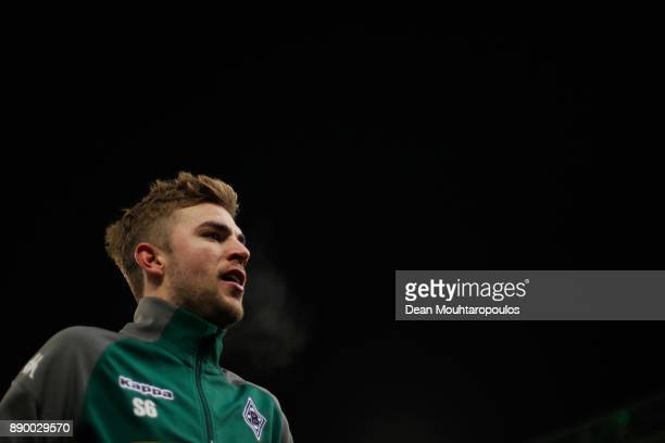 Christoph Kramer of Borussia Monchengladbach looks on prior to the Bundesliga match between Borussia Moenchengladbach and FC Schalke 04 at...