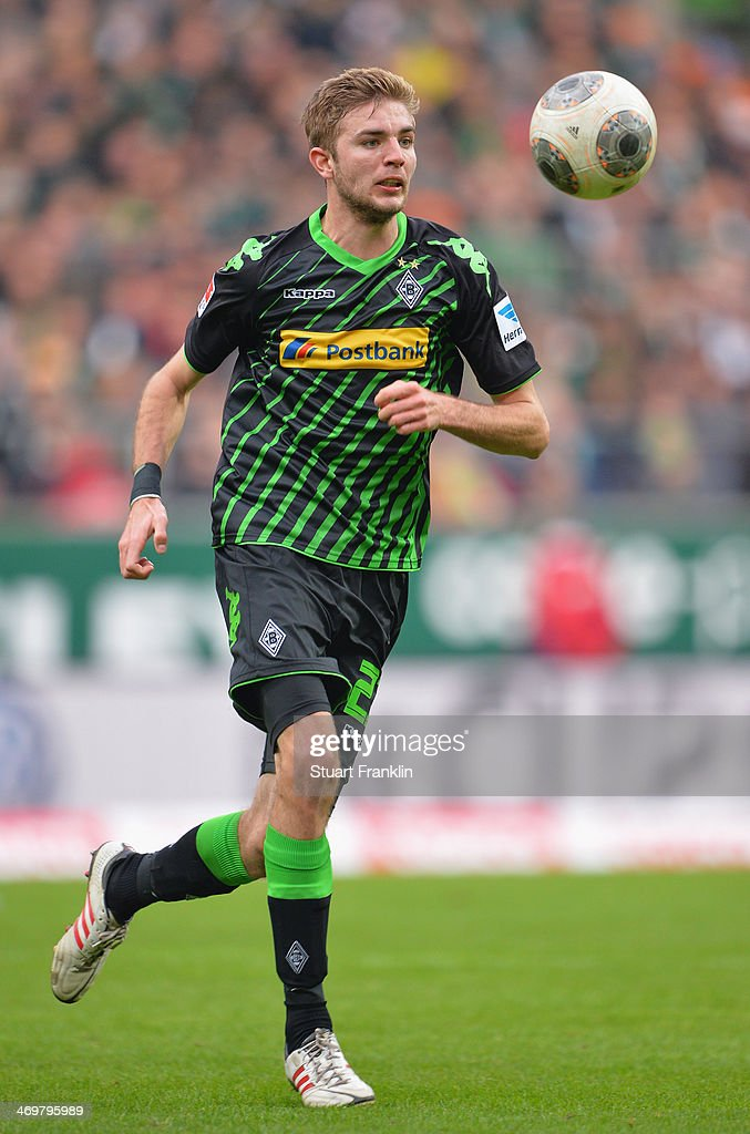 Christoph Kramer of Gladbach in action during the Bundesliga match between Werder Bremen and Borussia Moenchengladbach at Weserstadion on February 15, 2014 in Bremen, Germany.