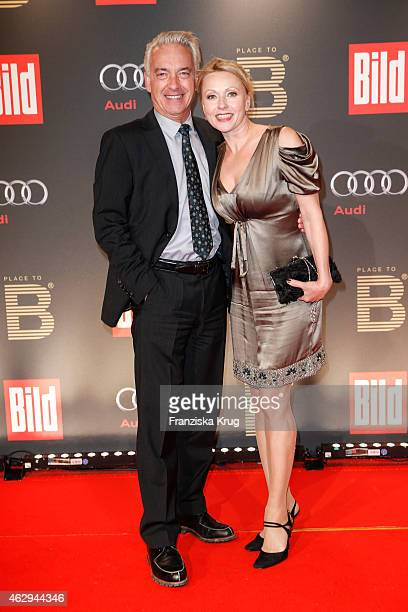 Christoph M Ohrt and Dana Golombek attend the Bild 'Place to B' Party on February 07 2015 in Berlin Germany