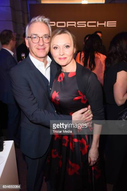 Christoph M Ohrt and Dana Golombek attend the Blue Hour Reception hosted by ARD during the 67th Berlinale International Film Festival Berlin on...