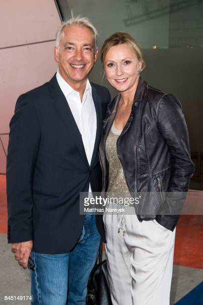 Christoph M Ohrt and Dana Golombek attend the 'Gabo Fame' Exhibition Opening at HumboldBox on September 9 2017 in Berlin Germany