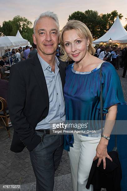 Christoph M Ohrt and Dana Golombek attend the producer party 2015 of the Alliance German Producer Cinema And Television on June 11 2015 in Berlin...