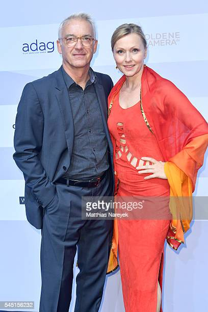 Christoph M Ohrt with Dana Golombek attend the summer party of Produzentenallianz on July 5 2016 in Berlin Germany