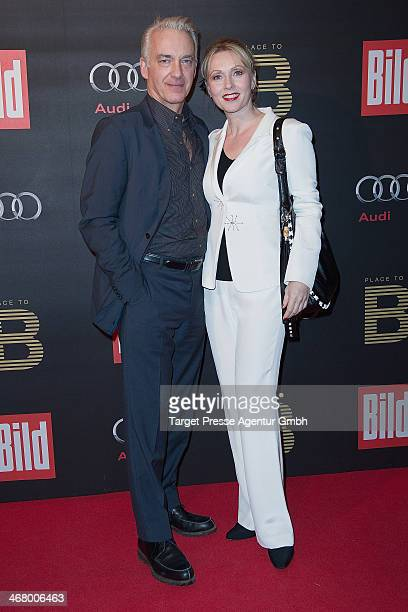 Christoph M Orth and Dana Golombek attend the BILD 'Place to B' Party at Grill Royal on February 8 2014 in Berlin Germany