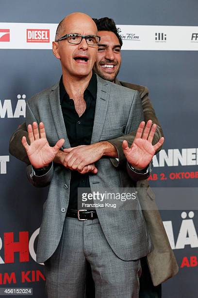 Christoph Maria Herbst and Elyas M'Barek attend the 'Maennerhort' Berlin Premiere on September 2 2014 in Berlin Germany
