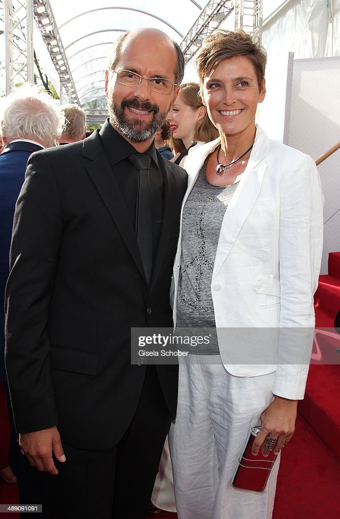 Christoph Maria Herbst and his wife Gisi Herbst attend the Lola - German Film Award 2014 at Tempodrom on May 9, 2014 in Berlin, Germany.