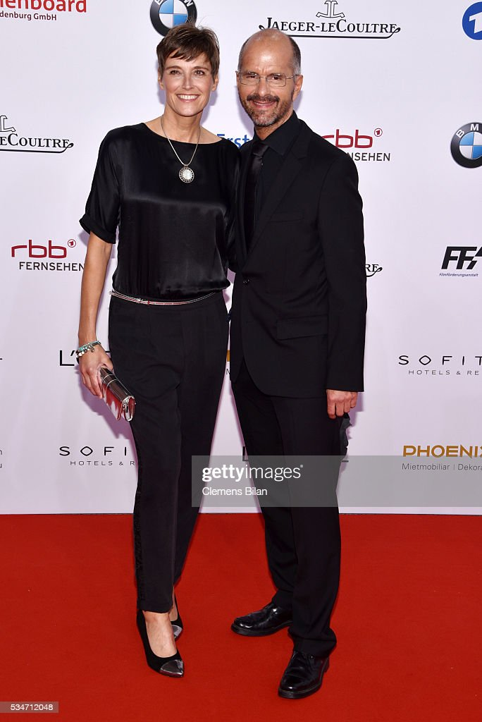 Christoph Maria Herbst and his wife Gisi Herbst attend the Lola German Film Award on May 27 2016 in Berlin Germany