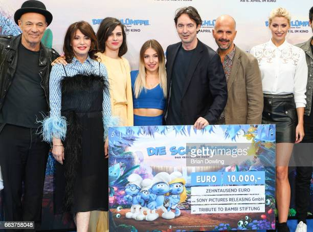 Christoph Maria Herbst Iris Berben Nora Tschirner and Bianca 'Bibi' Heinicke guest Christoph Maria Herbst and Lena Gercke arrive at the 'Die...
